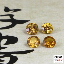 Yellow Sapphire 0.91 ct Round (4 pcs) from Madagascar Gemstone