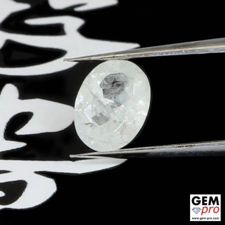 White Rhodizite-Londonite 0.60 ct Oval from Madagascar Gemstone
