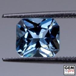 Amazing Blue Aquamarine from Madagascar 2.22 carat Octagon Cut 8.5 x 7.6 x 5.6 mm