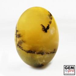 Opale de Feu Dendritique 20.67 carats Ovale Gemme de Madagascar