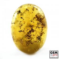 Orange Dendritic Moss Opal 19.30 ct Oval Cabochon from Madagascar Gemstone