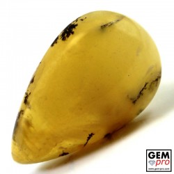 Yellow Dendritic Moss Opal 10.10 ct Pear Cabochon from Madagascar Gemstone