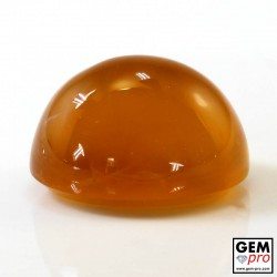 22.09 Carat Yellow Orange Fire Opal Gem from Madagascar Natural and Untreated