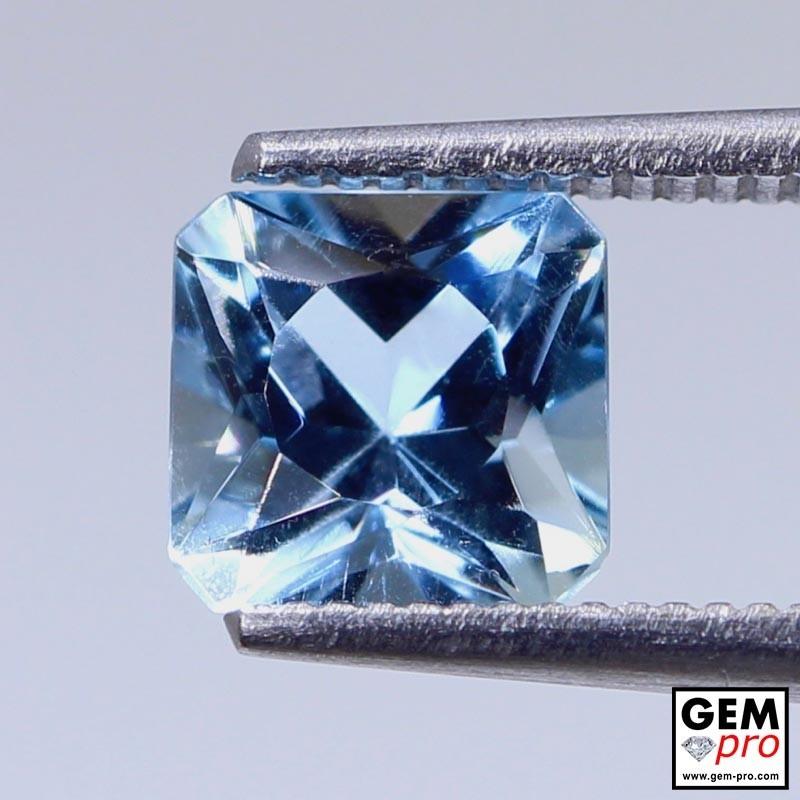 Blue Aquamarine 1.31ct Octagon from Madagascar Natural and Untreated Gemstone
