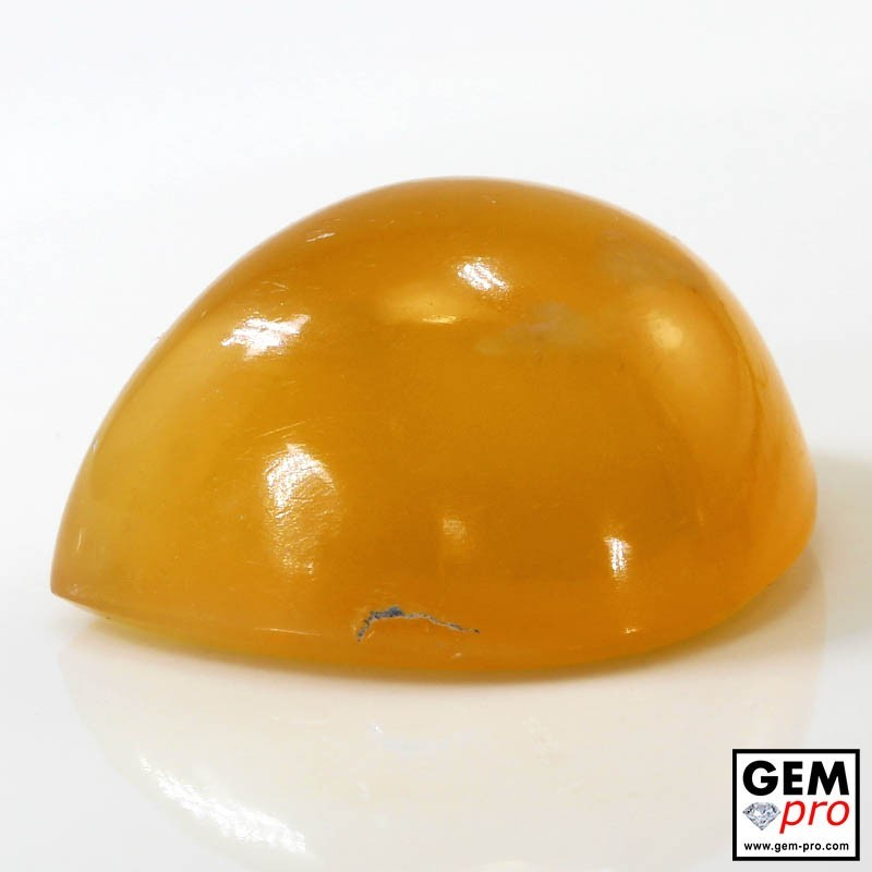 35.09 Carat Yellow Orange Fire Opal Gem from Madagascar Natural and Untreated