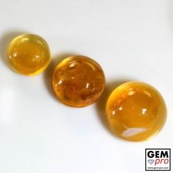 21.40 Carat Opale de Feu Orange 3 p. de Madagascar