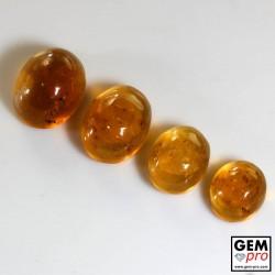 19.00 Carat Opale de Feu Orange 4 p. de Madagascar