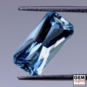 Blue Aquamarine 3.2ct Octagon from Madagascar Natural and Untreated Gemstone