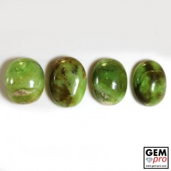 Green Multicolor Common Opal 88.50 ct Oval (4 pcs) from Madagascar Gemstone