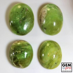 Green Multicolor Common Opal 104.30 ct Oval (4 pcs) from Madagascar Gemstone