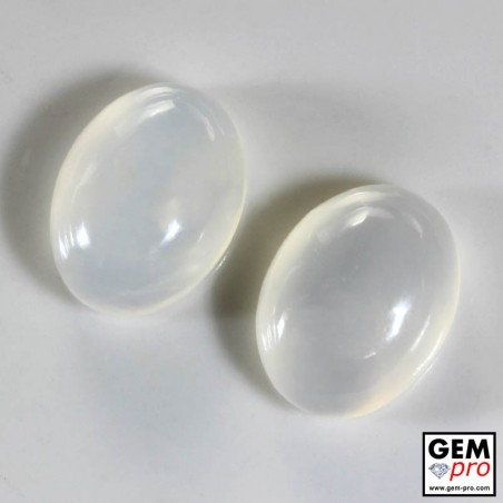 14.96 ct White Opal Gem from Madagascar Natural and Untreated