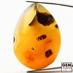 Dendritic Agate 91.40 ct Pear from Madagascar Gemstone