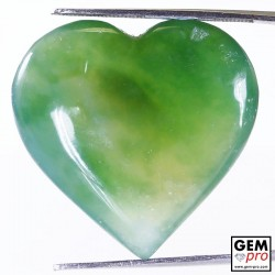 Green Moss Agate 40.10 ct Heart from Madagascar Gemstone
