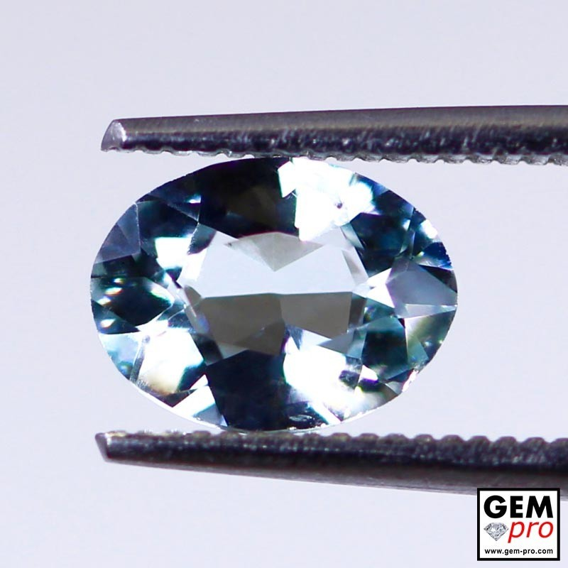 Blue Aquamarine 1.1ct Oval from Madagascar Natural and Untreated Gemstone