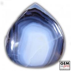 Multicolor Agate 96.60 ct Pear from Madagascar Gemstone