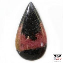75.79 Carat Rhodonite Rose et Noire Gemme de Madagascar