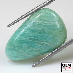 14.03  ct Pear Green Amazonite Gemstone from Madagascar Natural and Untreated