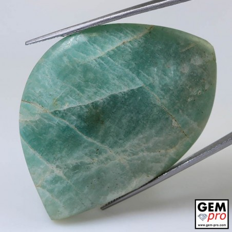 103.40 ct Fancy Green Amazonite Gemstone from Madagascar Natural and Untreated