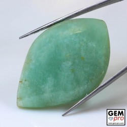 98.17 ct Marquise Green Amazonite Gemstone from Madagascar Natural and Untreated