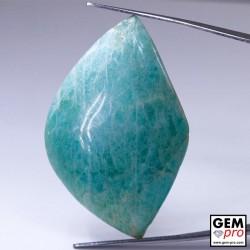 72.57 Carat Amazonite Bleue AA Gemme de Madagascar