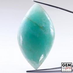 90.61 ct Marquise Blue Amazonite AA Quality Gemstone from Madagascar Natural and Untreated