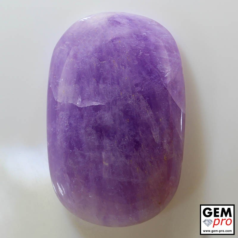 92.95ct Amethyst Cushion Shape Cabochon Natural Gemstone from Madagascar