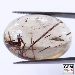 44.00 ct Oval Quartz with Rutile Gemstone from Madagascar Natural and Untreated