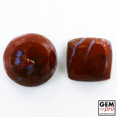 50.82 ct Red Jasper Gemstone (2 pcs) from Madagascar Natural and Untreated