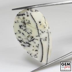23.77 Carat Opale Blanche Dendritique Gemme de Madagascar