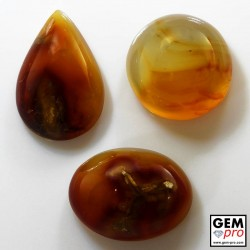 112.50 ct Yellow and Orange Agate Gemstone (3 pcs) from Madagascar Natural and Untreated