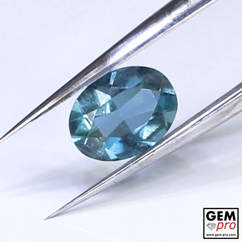 Blue Santa Maria Africana Aquamarine 0.69 ct Oval Cut from Madagascar Natural and Untreated Gemstone