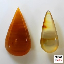 35.32 ct Yellow and Orange Agate Gemstone (2 pcs) from Madagascar Natural and Untreated