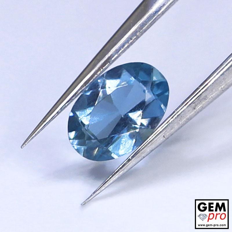 Blue Santa Maria Africana Aquamarine 0.27 ct Oval Cut from Madagascar Natural and Untreated Gemstone