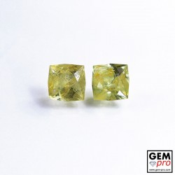 1.04 ct Golden Chrysoberyl (2 pcs) Lot Gem from Madagascar