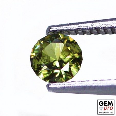 0.37 carat Round 4.4 x 4.4 mm Green Demantoid Garnet Gemstone