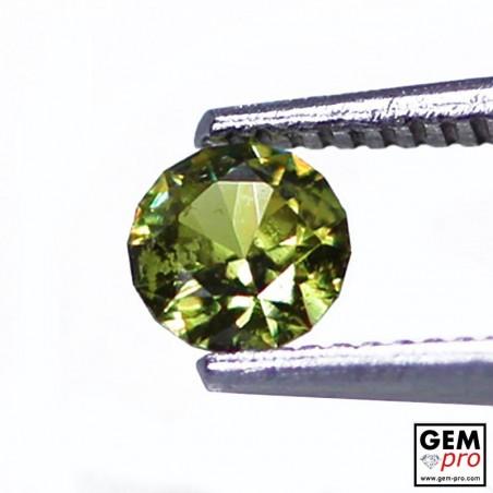Grenat Vert Démantoïde 0.37 carat Taille Ronde Gemme de Madagascar