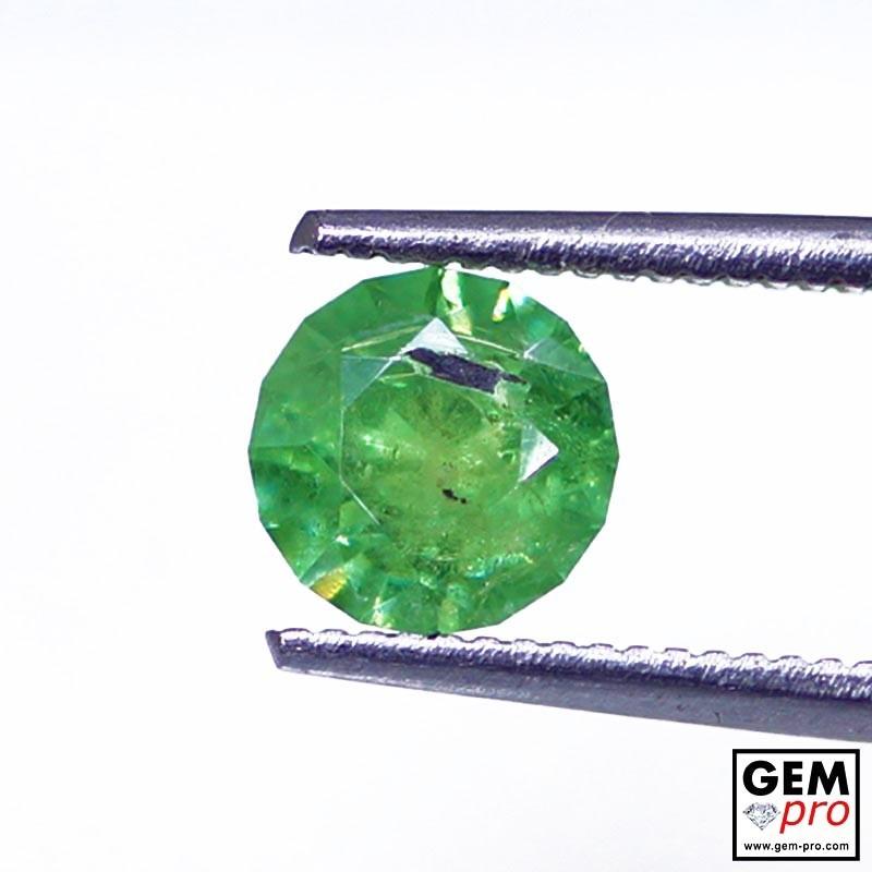 0.96 carat Round 6.0 x 6.0 mm Green Demantoid Garnet Gemstone