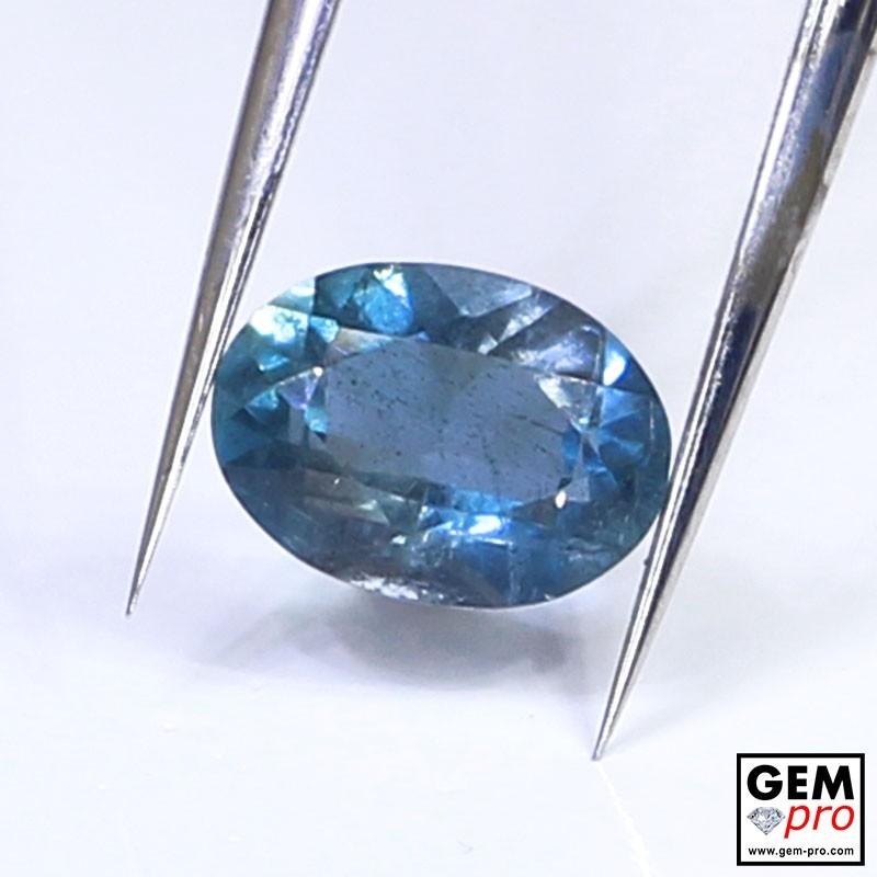Blue Santa Maria Africana Aquamarine 0.91 ct Oval Cut from Madagascar Natural and Untreated Gemstone