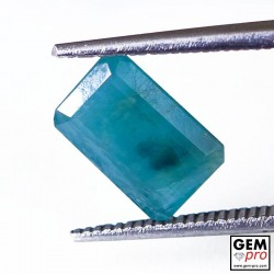 1.92 Carat Greenish-Blue Grandidierite Gem from Madagascar Natural and Untreated