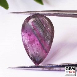 2.00 ct Multicolor Tourmaline Pear Cut Slice 12 x 7 mm Natural Gemstone from Madagascar