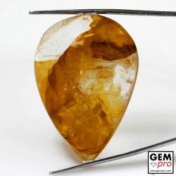 83.70 Carat Quartz Inclusions Limonite Jaune Orange Gemme de Madagascar