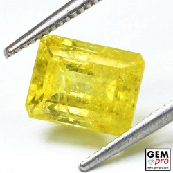 Yellow Rhodizite-Londonite 2.42 ct Octagon from Madagascar Gemstone