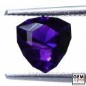Violet Amethyst 1.0ct Trillion from Madagascar Natural and Untreated Gemstone