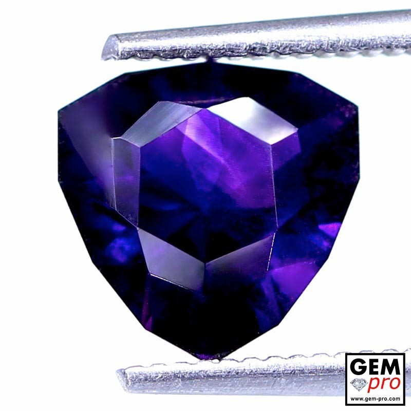 Violet Amethyst 1.53ct Trillion from Madagascar Natural and Untreated Gemstone