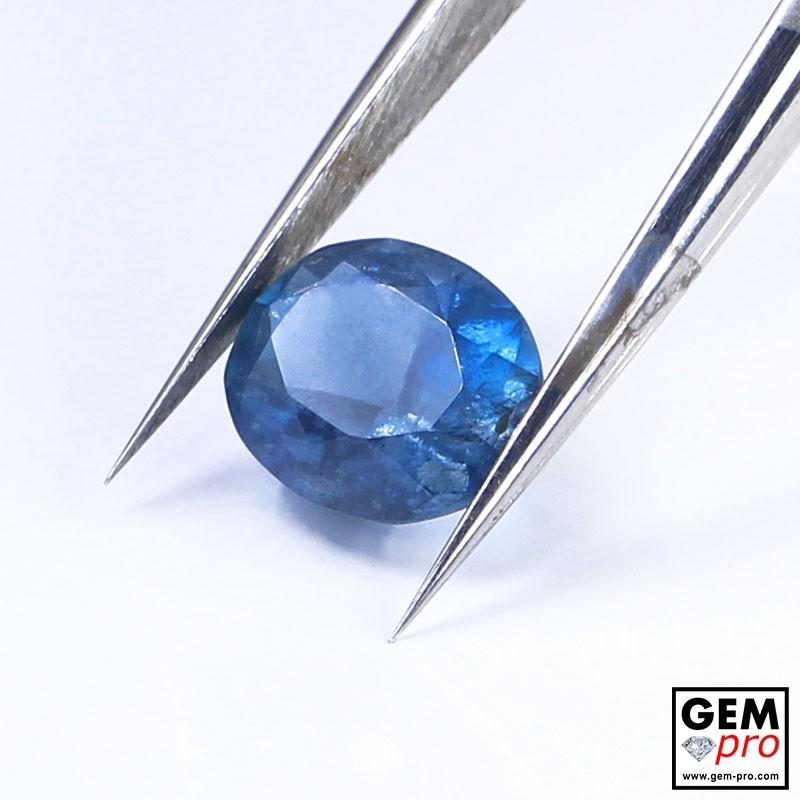 Blue Santa Maria Africana Aquamarine 1.80 ct Oval Cut from Madagascar Natural and Untreated Gemstone