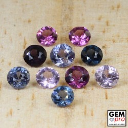 2.63 Carat Mixed Colors Spinel 10 pcs Lot Gems from Madagascar