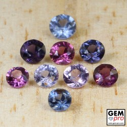 2.45 Carat Mixed Colors Spinel 9 pcs Lot Gems from Madagascar