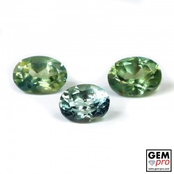 1.16 ct Multicolor Blue Green Yellow Sapphire Gem 3 pcs Lot Madagascar