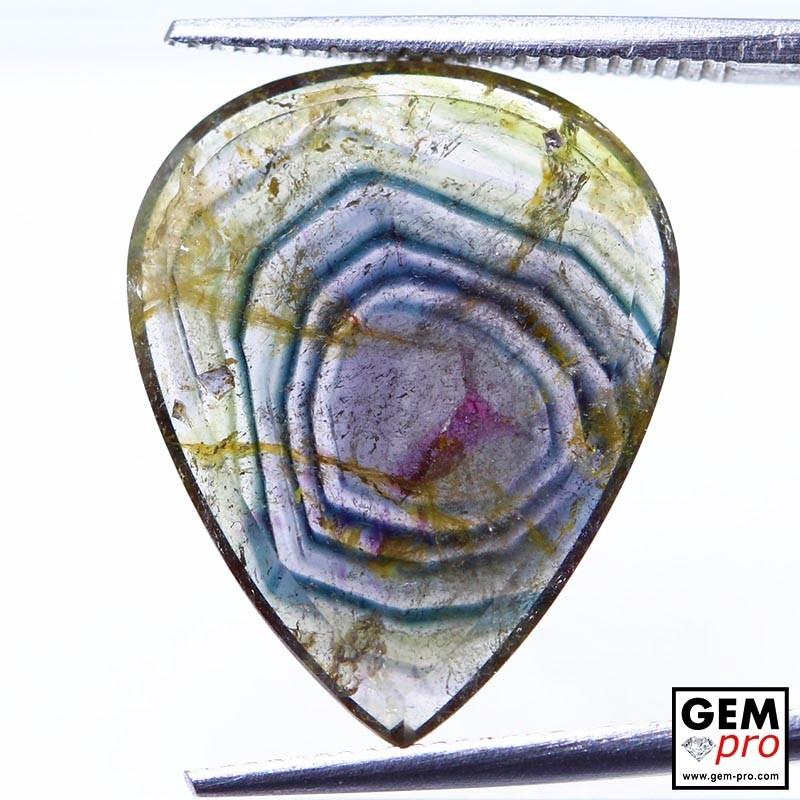 6.69 ct Multicolor Tourmaline Gems from Madagascar