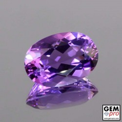 Violet Amethyst 2.0.3 ct Oval Facet from Madagascar Natural and Untreated Gemstone
